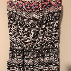 Xhiliration Maxi Aztec Dress with Pockets